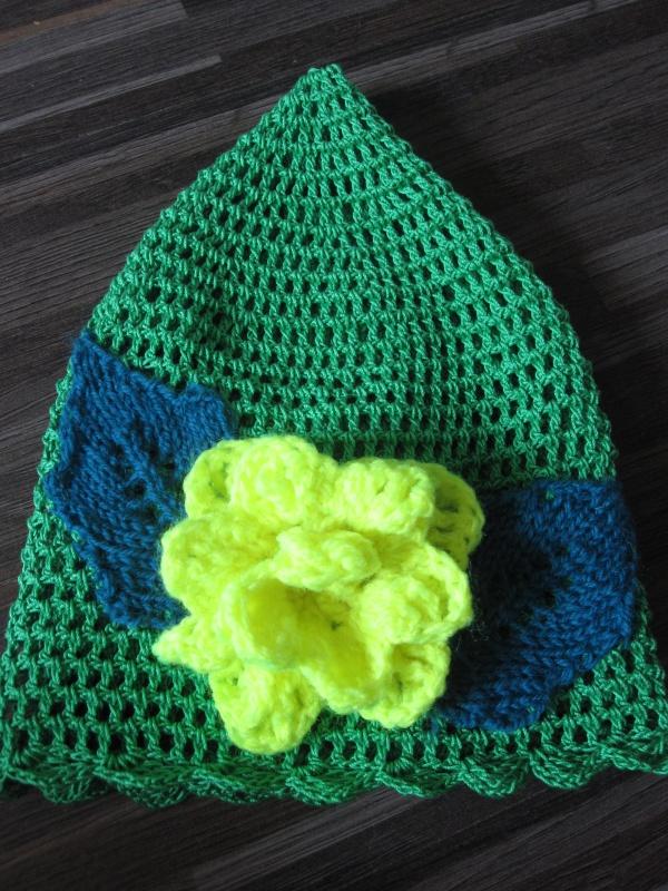 """Vaikiška kepurėlė """"Geltona rožė """""""