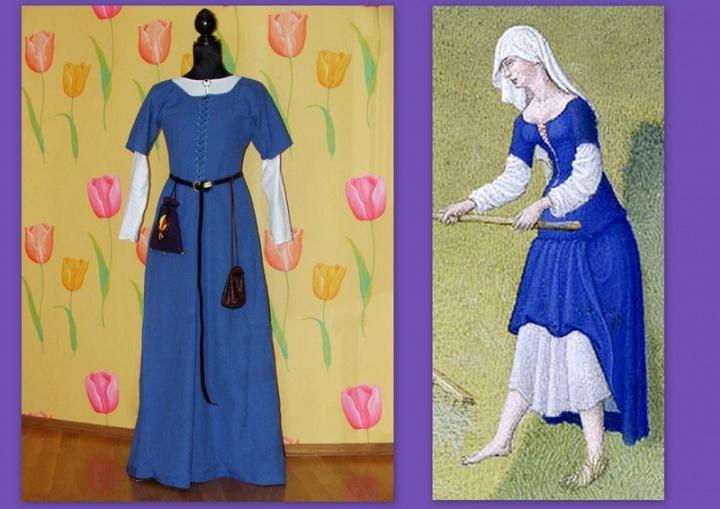 Viduramžių suknia, XIV a.