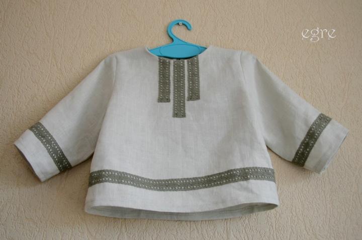 linine krikšto kostiumėlis
