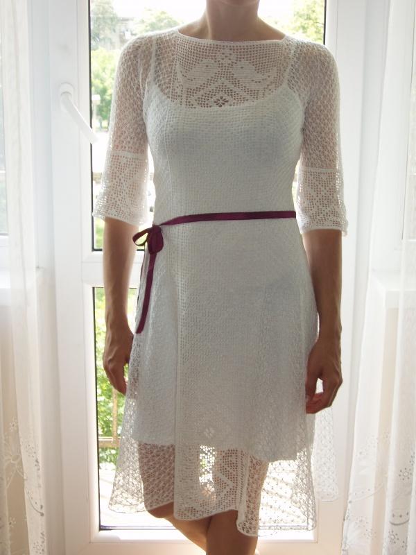 Lininė vestuvinė suknelė
