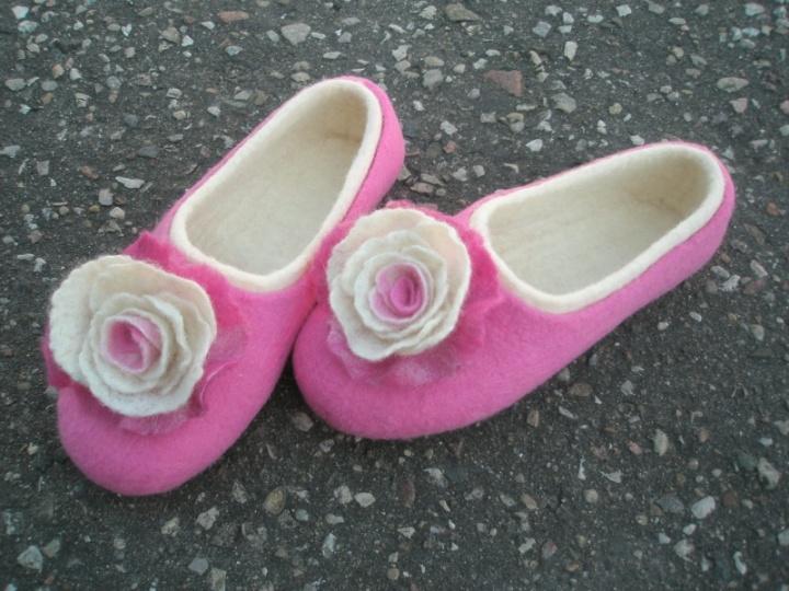 rožinės šlepetės
