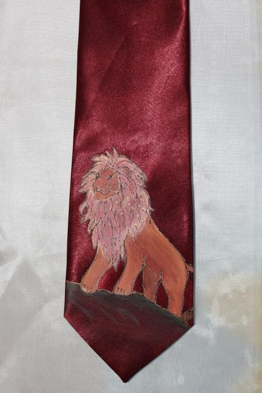 Šilko kaklaraištis - Liūtas