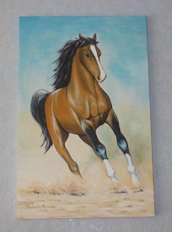 begantis zirgas [40x60 drobe,akril]