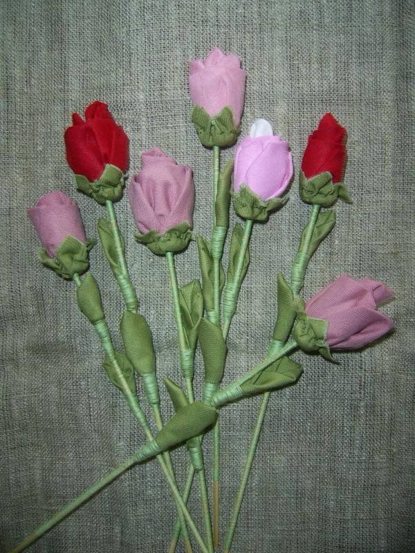 Rožės iš medvilnės
