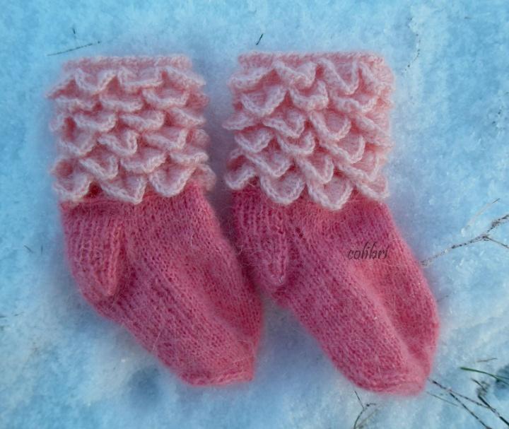 rožinės kojinytės