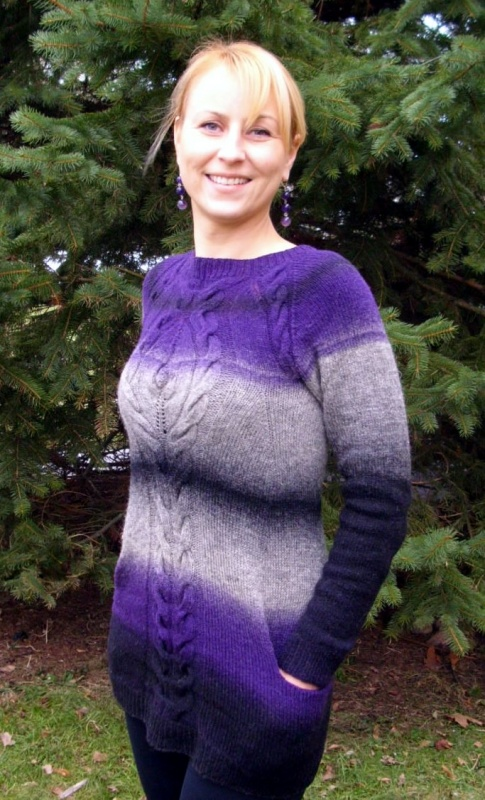 Violetinė su kišenėmis
