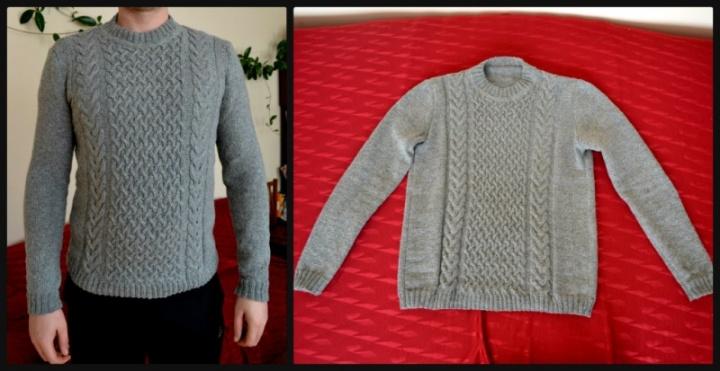 Vyriškas pilkas megztinis