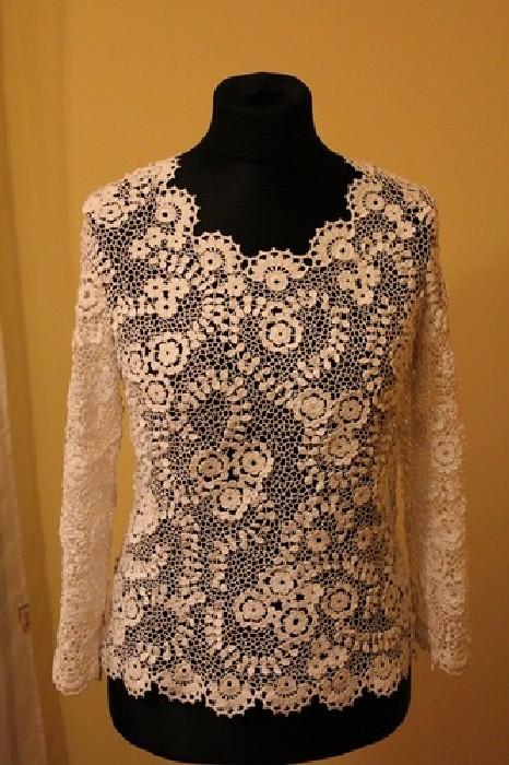 Купить Блузку Из Ирландского Кружева
