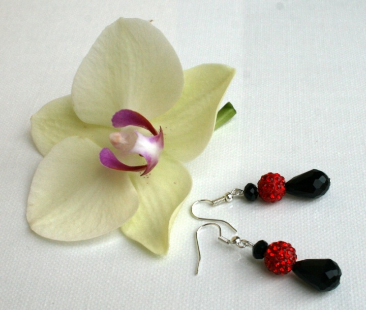 "Auskarai ""Orchidėja """