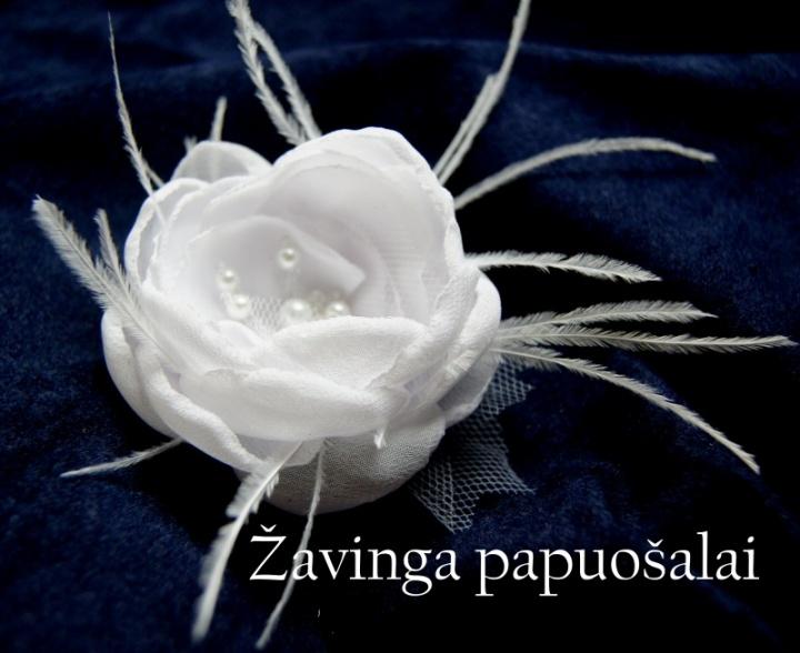 Balta gėlė nuotakai
