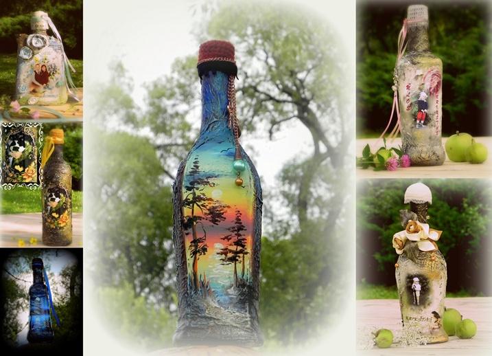 Dekoruoti butelaičiai