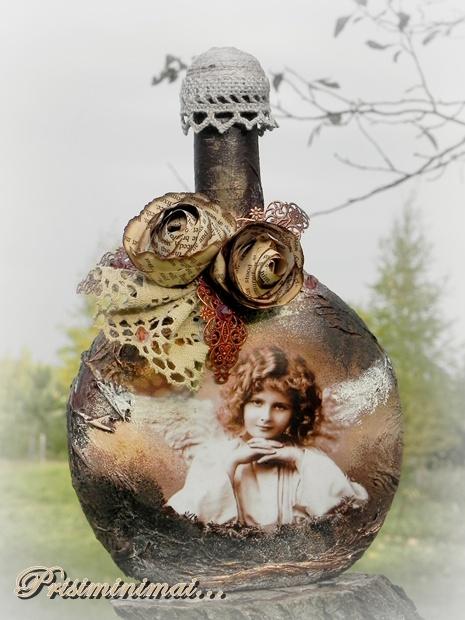 Dekoruoti butelaičiai įvairioms progoms