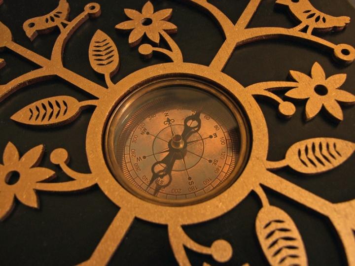Kelionių - užrašų knyga su kompasu