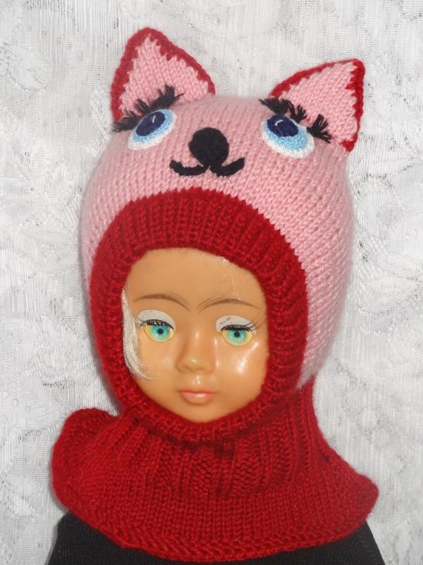 Kepurė šalmas Rožinė katytė