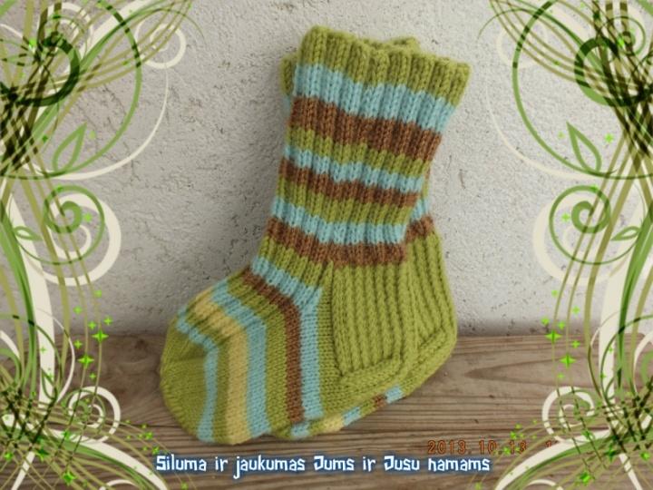 Margos vilnonės kojinytės