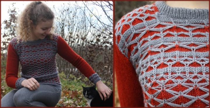 """Megztinis """"Rudeniniai drugeliai"""""""