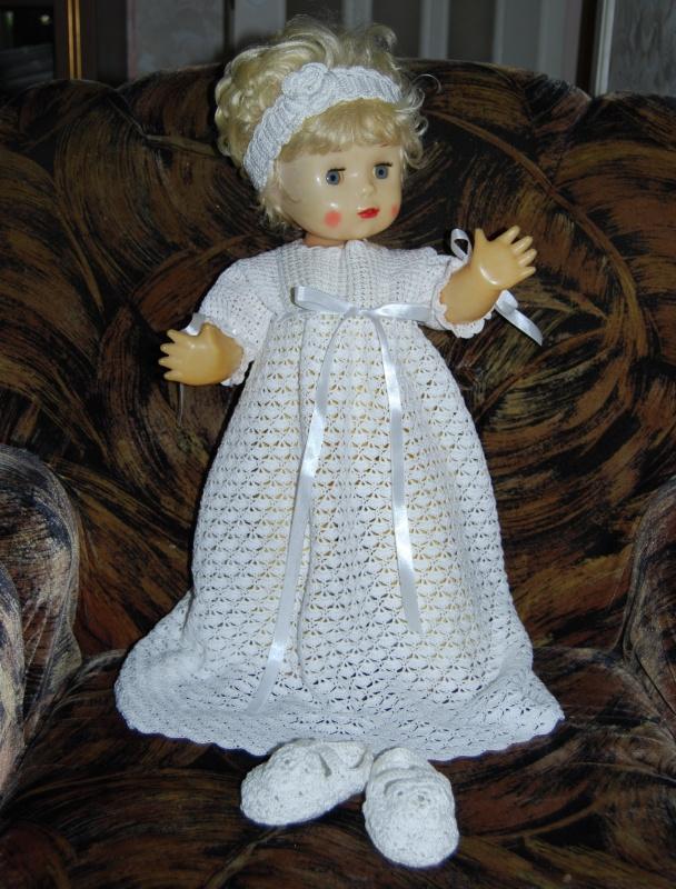 Puošni krikšto suknelė