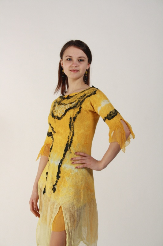 geltona pavasarinė suknytė
