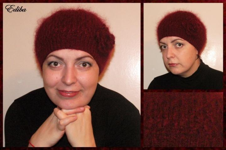 """Megzta kepurė """"Pūkė """""""
