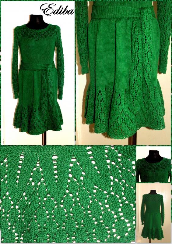 """Megzta suknelė """"Žaliuokė """""""