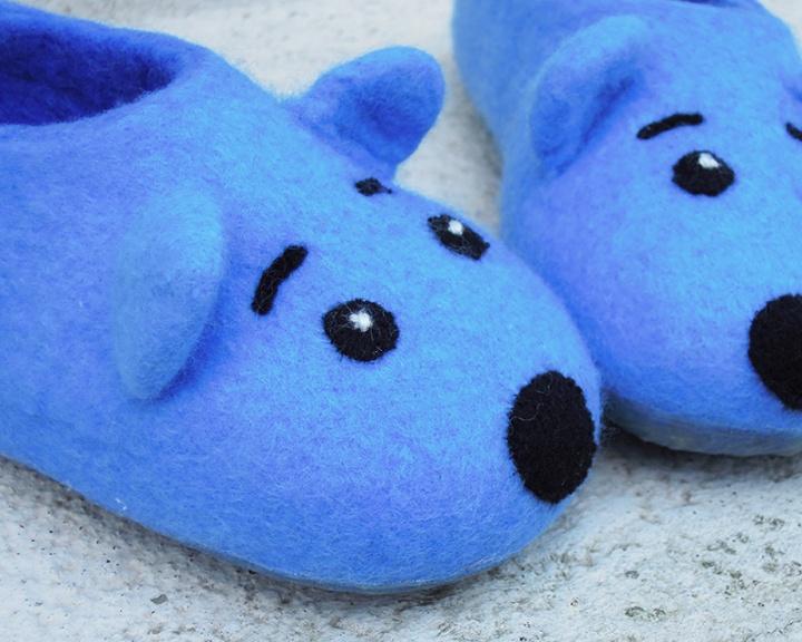 Mėlynos vaikiškos šlepetės