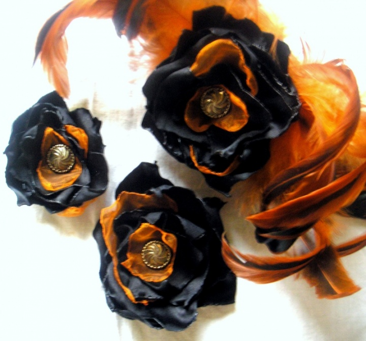 Retro gėlės - sagės