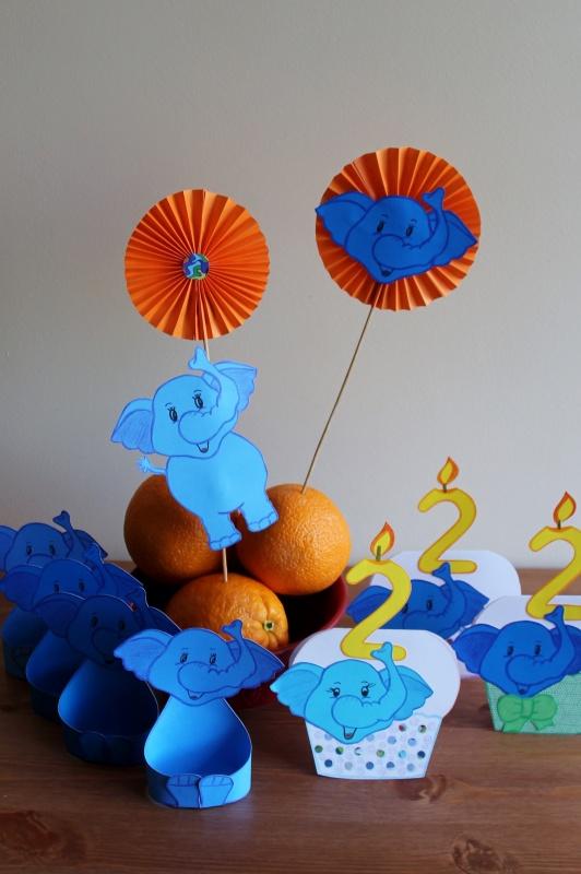 Vaikų gimtadienio dekoracijos Drambliuka