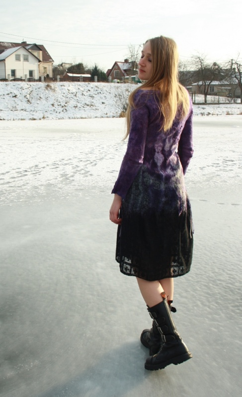 """Velta suknelė """"Violetinė svaja """""""