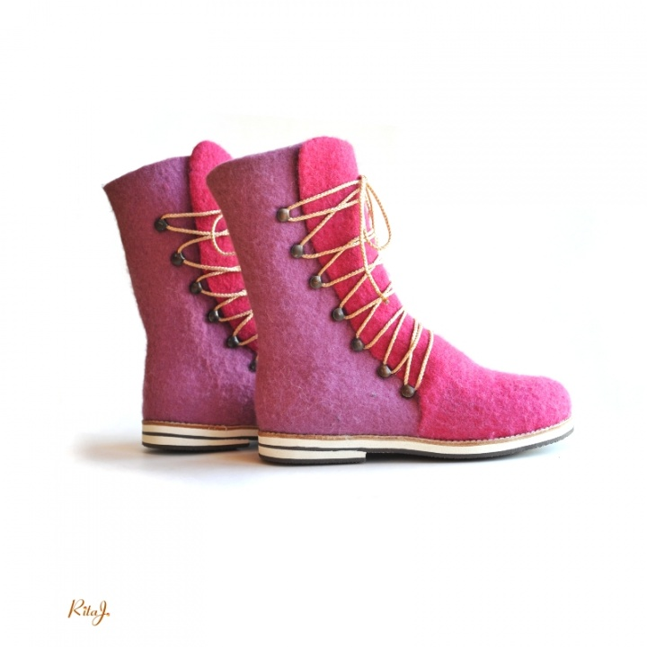 Veltinio batai / felted boots PINK