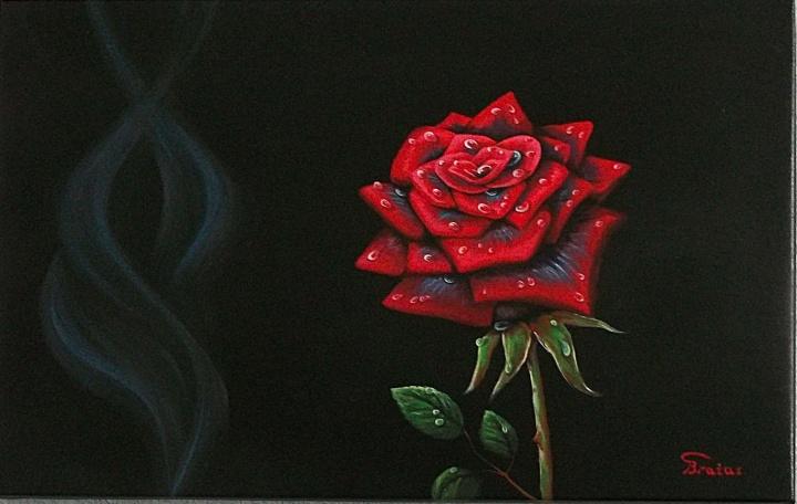 Issiskleide juodoji roze[40x60]