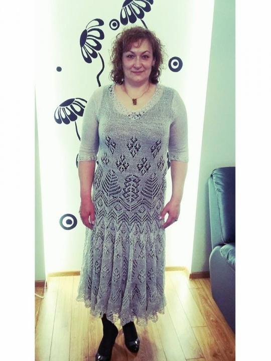 megzta suknelė iš medvilnes