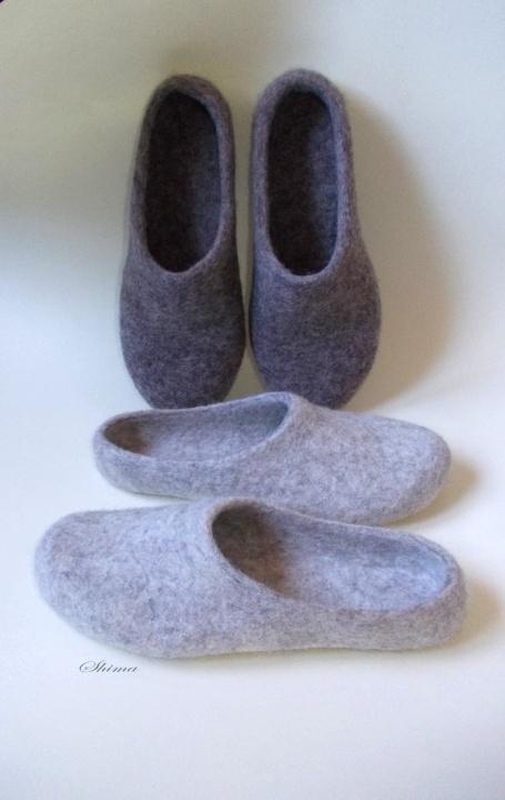 Natūralios vilnos šlepetės. Tvirtos kokybiškos šlepetės džiugins širdį ir šildys pėdas vėsų vakarą.