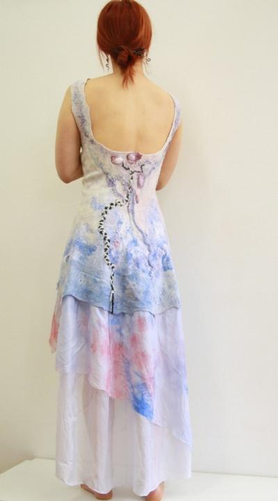 Pastelinė proginė suknelė