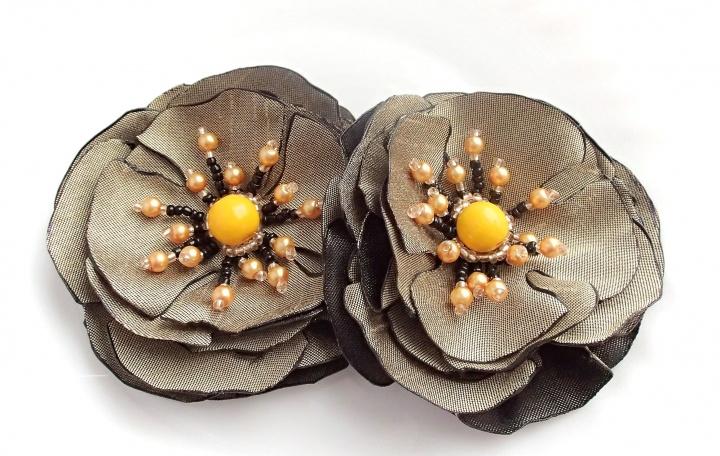 Sendinto aukso pavasarinės gėlės