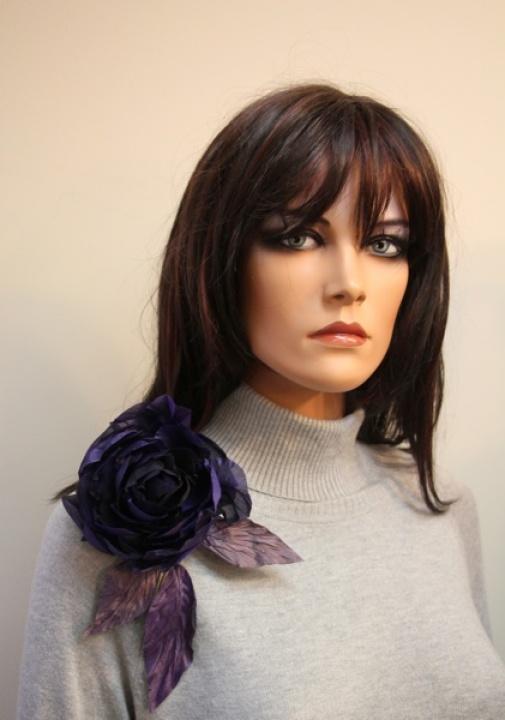 Šilko gėlė 'Dark purple rose'