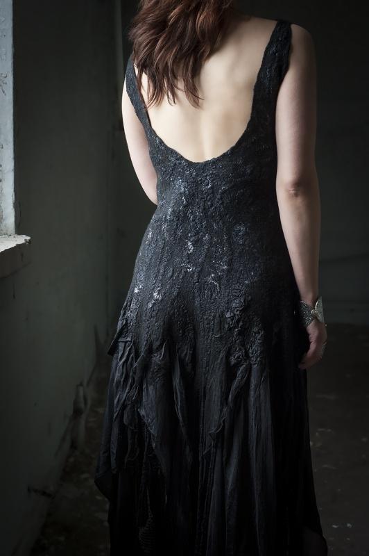 Suknelė gotiškoms vestumėms
