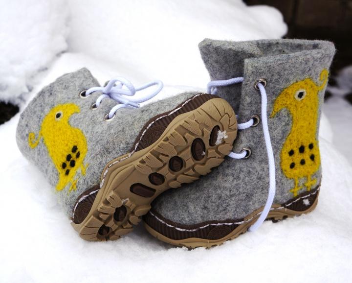 Vaikiški sniego batai Paukštukas