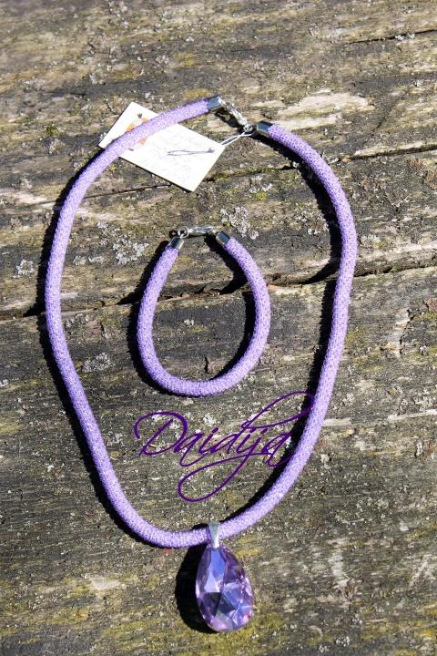 Violetinis vėrinys (žgutas) rankų darbas