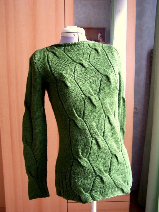 žalias megztinis