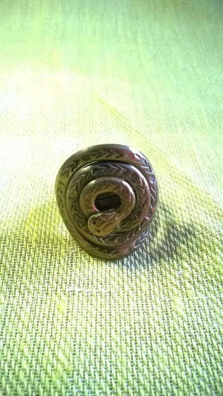 Žalvarinis žiedas Žaltys