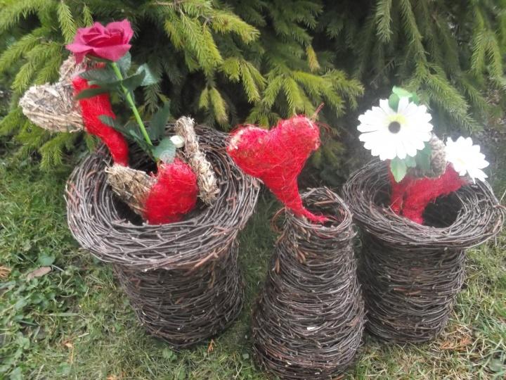 beržo vazelės ir Valentino širdelės