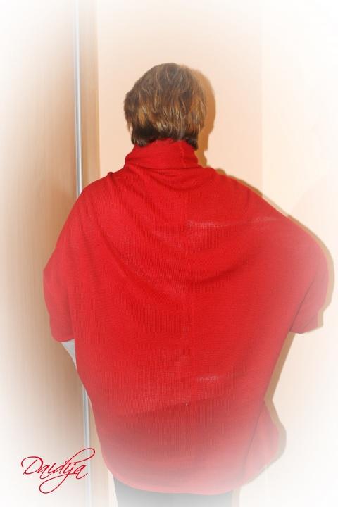 Didelis, laisvas, raudonas rubino spalvos megztukas kardiganas, vienas dydis tinka visiems, jaukus ir šiltas, dovana jai