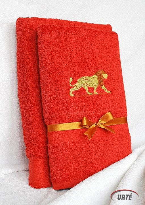 Dovana tikram Liūtui - Siuvinėtų rankšluosčių komplektas