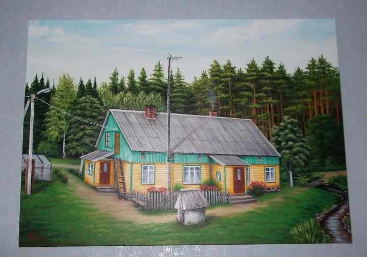 Geltonas namas [70x100]