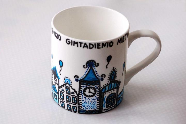 """Gimtadienio puodelis """"Gimtadienis mieste"""""""