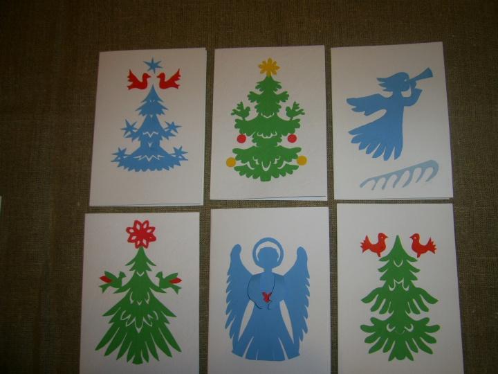 Kalėdiniai  atvirukai su karpiniais
