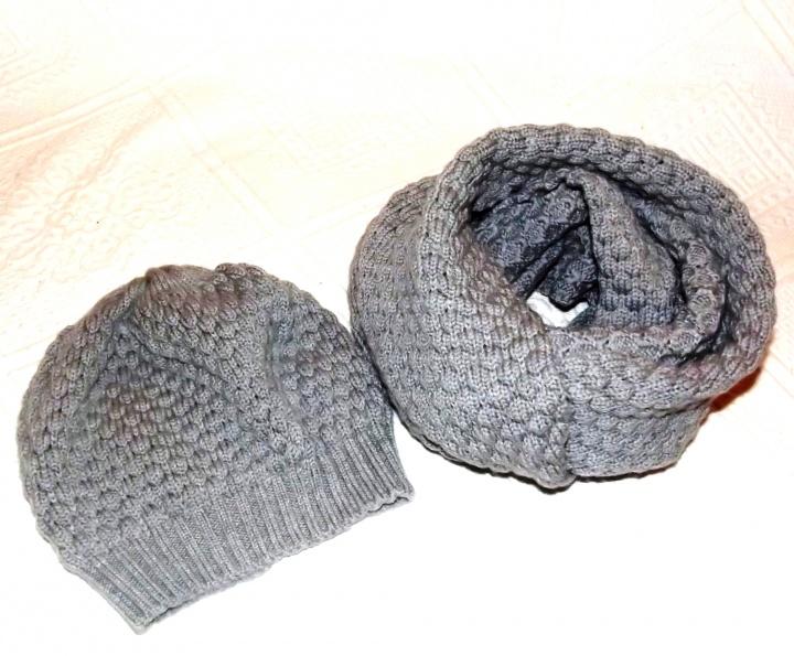 Kepurė ir šalikas - vaikiškas komplektukas