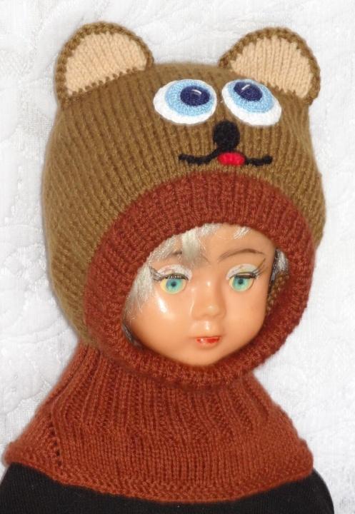 Kepurė šalmas Merino pusvilnės meškis