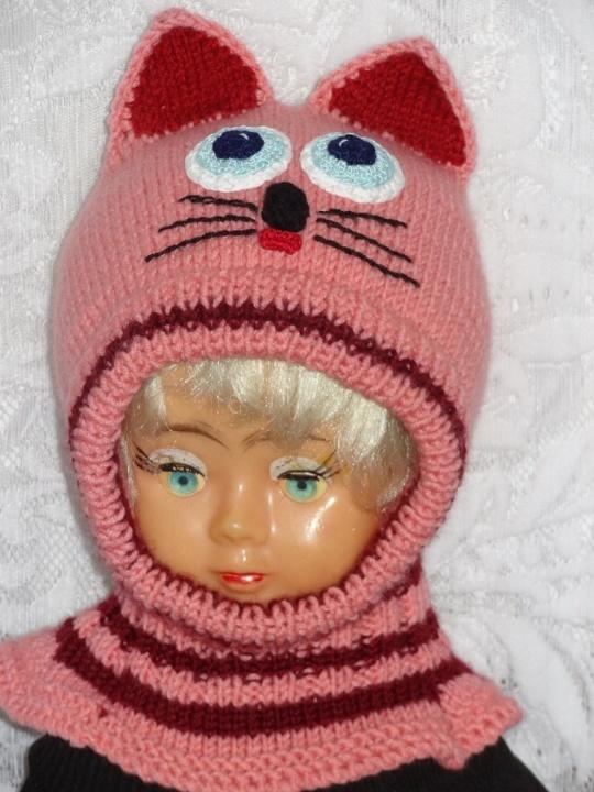 Kepurė šalmas Rožinė bordo katytė