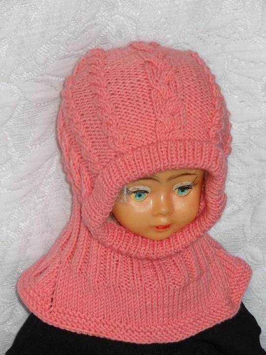 Kepurė šalmas rožinis su pynėmis